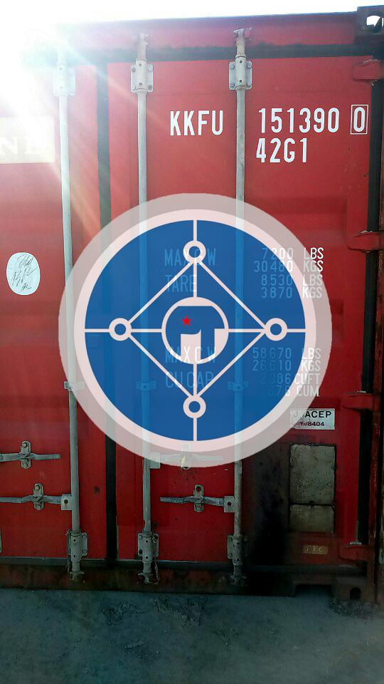 Container thép SCM440 còn kẹp chì