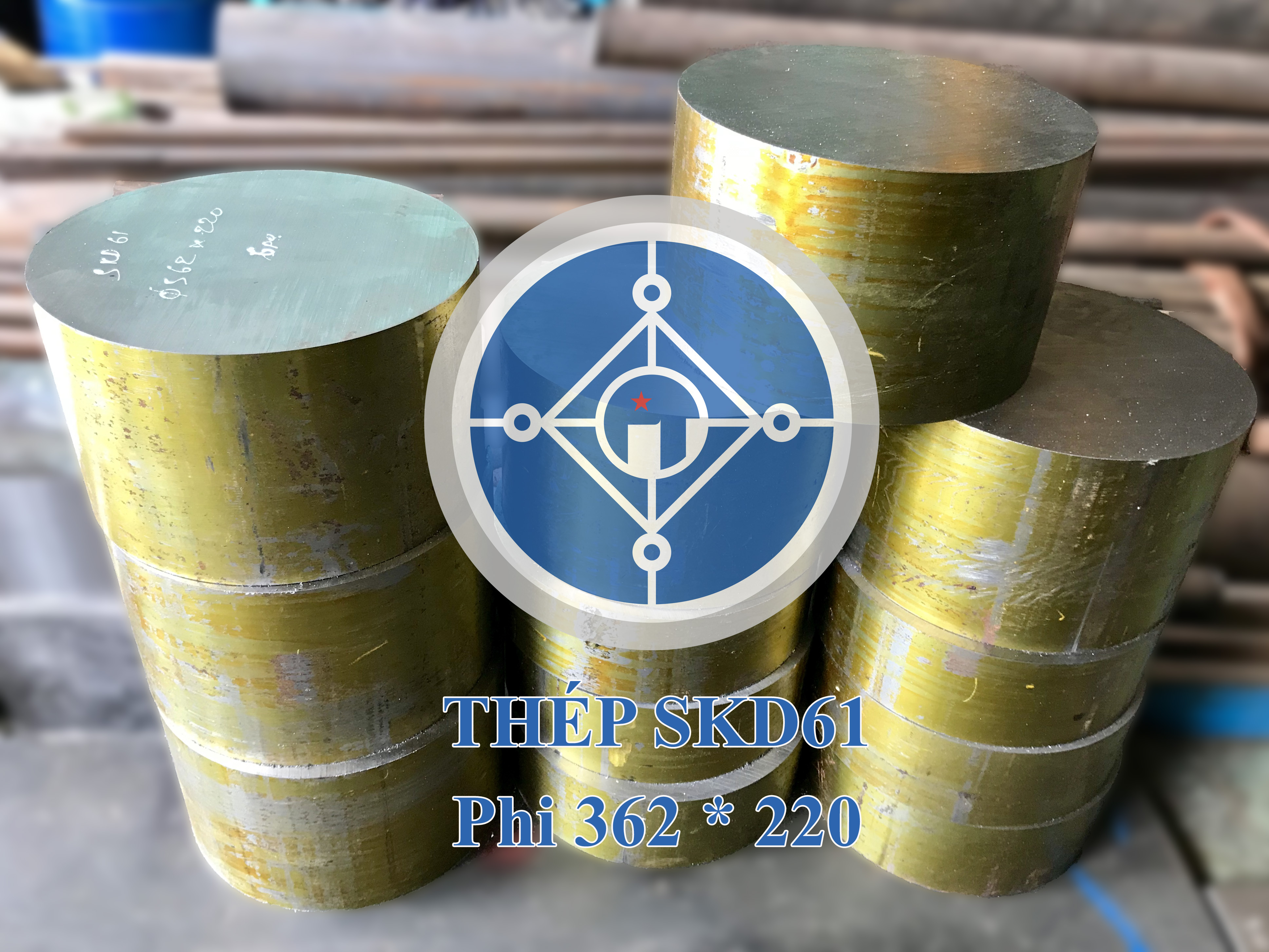 Thép tròn đặc SKD11 - Phi 362 mm