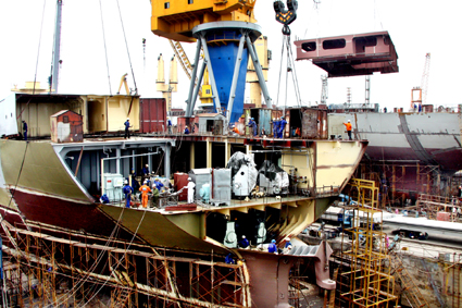Ứng dụng thép tấm SCM440 trong công nghiệp đóng tàu