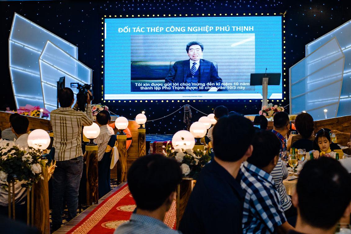 Đối tác từ Hàn Quốc - Ông Jiog Shin gửi lời chúc mừng thân thiết đến Thép công nghiệp Phú Thịnh